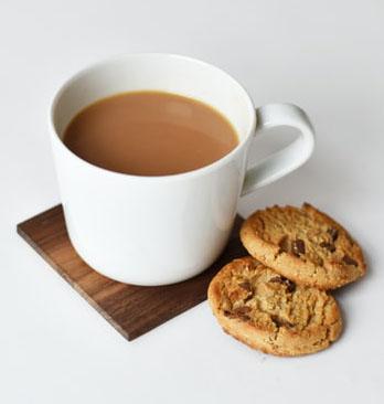 tea with biscuit